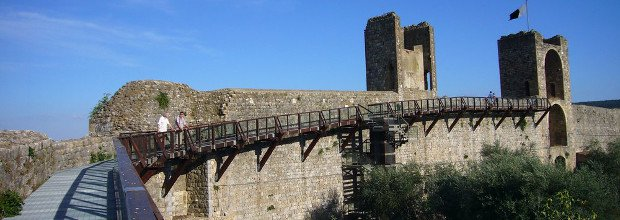 Ramparts of Monteriggioni partially closed